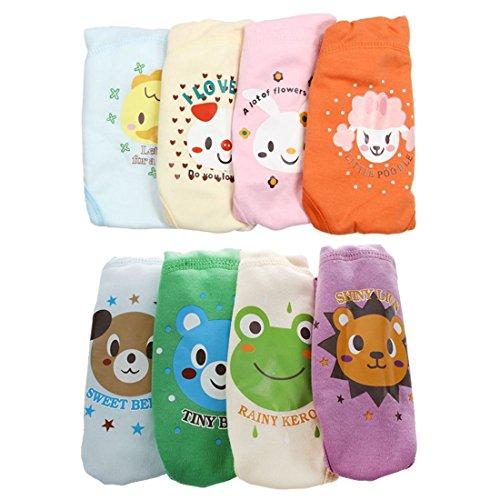 Cobeky - 4 pantalones de entrenamiento impermeables reutilizables para bebés de 3 a 4 años