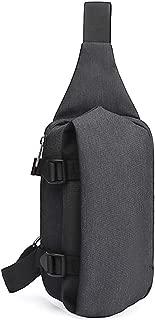 Sling Shoulder Backpacks Sling Bag for Men Travel Chest Bag Daypacks Canvas Backpack,Lightweight Waterproof Anti Theft for Travel,Running, Hiking,Black