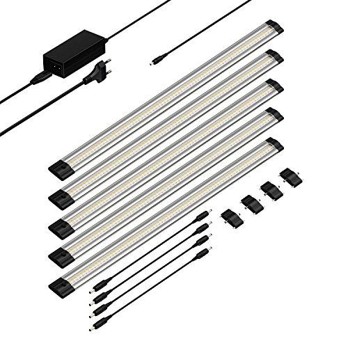 parlat LED Unterbau-Leuchte SIRIS, flach, je 50cm, 500lm, warm-weiß, 5er Set