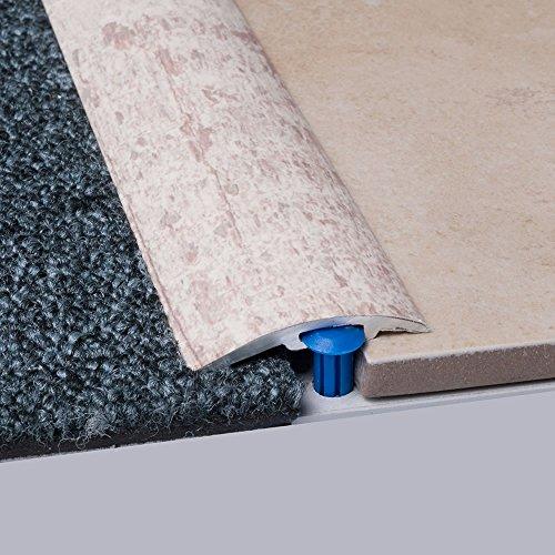 Laminat-Ausgleichsschiene Antik Weiß 900 mm, für 4 - 14 mm Höhenunterschied