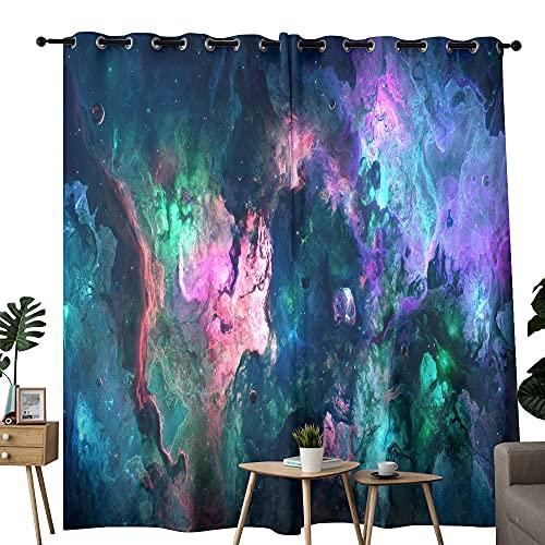 Cortinas de nebulosa orquídea para dormitorio – aislamiento térmico, reducción de ruido, bloqueo del sol, 183 x 243 cm