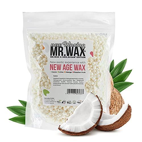 Mr. Wax New Age Waxing Cocco Wachsperlen für Haarentfernung, Augenbrauen, Achseln, Intim, Beine, Gesicht Wachs Filmwachs Heisswachs, Enthaarung Waxing Perlen