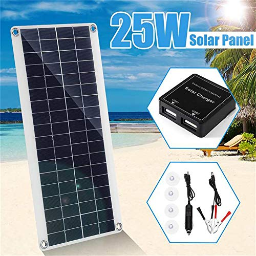 HMLIGHT Panel 25W 5V módulo Solar policristalino conexión a la Red de energía fotovoltaica para Cargar la batería, Barco, Caravana, Autocaravana