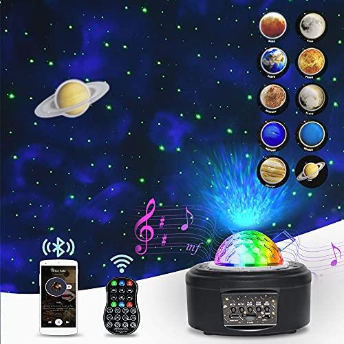 Proiettore di cielo stellato a LED, luce notturna per bambini con 10 pianeti (Mars, Saturn, Luna, ecc) Galaxy Projector per adulti, bambini, feste, regali, Natale, decorazione della casa