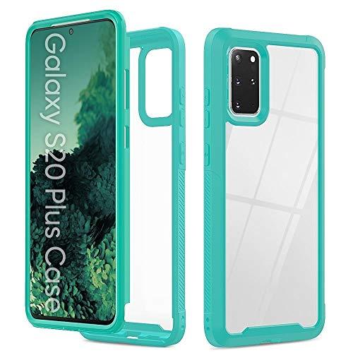 GLXC AYDD para Galaxy S20 + Transparent Series Frame TPU + PC Funda Protectora a Prueba de Gota a Prueba de Golpes a Prueba de Polvo (Color : Light Blue)