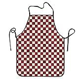 N\A Vestito da Grembiule con Bretelle per Barbecue da Cuoco Professionale Cuoco a Quadretti Rosso ized per Cucina per Donna Wife Ladies da Donna