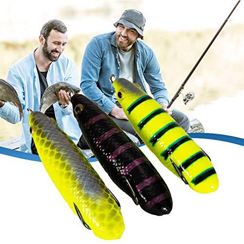 VIAIA 3 unids Pesca de Pesca simulación Artificial Realista en Forma de Insecto en Forma de Foso de Agua para Agua Dulce Agua Salada Pesca Duro Cebo swimbait