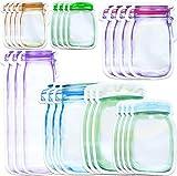 25pcs Mason Jar Bottle Bags,Mason Jar Borsa, Sacchetti Sandwich Riutilizzabili Sigillo Ermetico Borse di Mason Jar per Dolci, Snack, Cibo o tè