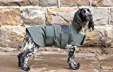 Dog & Field 2 in 1 Fully Waterproof Dog Coat - Microfiber Lined Drying Jacket - Keeps Your Dog Warm and Dry Whilst Wicking Moisture Away From Your Pets Fur - Sizes XS-XL (S)