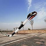 MJC Los niños Kite Cometa, Cometa 3D Kids Fun Cometas for niños fácil de Volar con Deportes al Aire Libre 3D Tridimensional 55m Suave Inflable Adulto Serpiente Kite Brisa (Color : Red and Yellow)