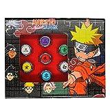 10pcs Naruto Rings Set New in Box - Akatsuki Rings Cosplay Member's Ring Set - Itachi Sharingan Box for Cosplay Ninja Fans