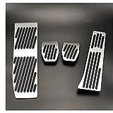 YAXUAN Bigmei Tienda de aluminio Pedal de reposapiés Pedal de combustible Pedales de freno de gas Placa de almohadilla Ajuste para BMW 3 5 Serie E30 E32 E34 E36 E38 E39 E46 E87 E90 E91 X5 X3 Z3
