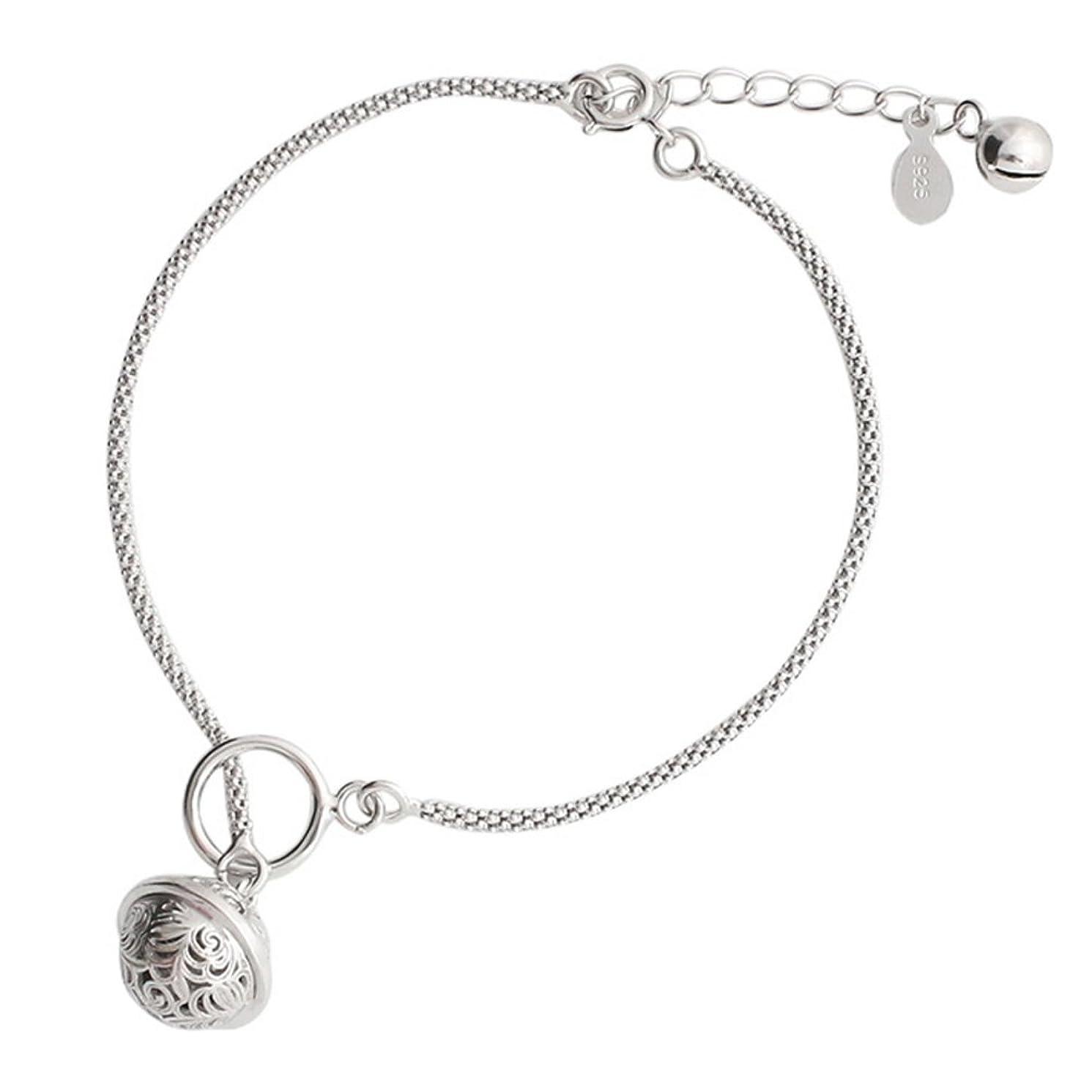 Helen de Lete Simple Style Vintage Tinkle Bell Fashion Sterling Silver Anklet