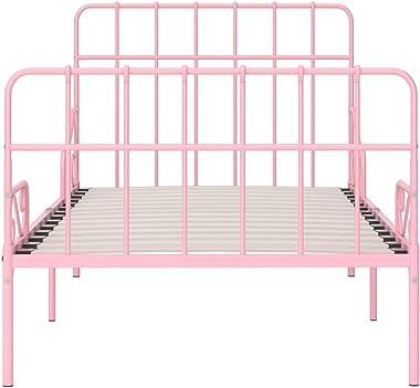 VIENDADPOW Lits & Cadres de lit Cadre de lit et sommier à Lattes Rose Métal 100 x 200 cm