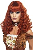 Smiffys Women's Long and Curly Auburn Wig with Bangs, One Size, Steampunk Wig, 5020570357552