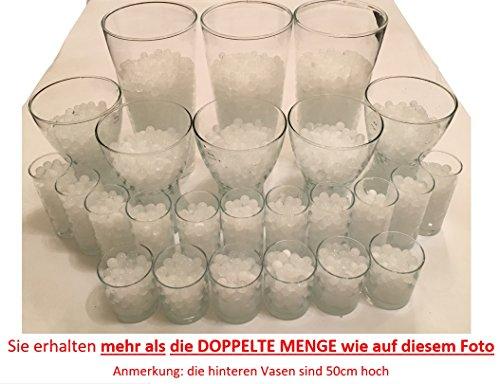 Waterparels, Crystal Aarde, waterkogels, vaasvuller, decoratie, 200 gram, voor planten/glas/vaas, parelballen 11-15 mm diameter - 25 liter, wit