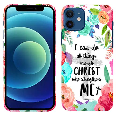 """Glisten iPhone 11 Case, I can do All Things Through Christ who Strengthens me Philipians 413 Printed Slim Profile Cute Plastic Hard Snap on Designer Back iPhone 11 Case/Cover (6.1"""")"""