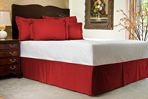 Comfort Beddings Ensemble cache-sommier 3 pièces avec 2 taies d'oreiller, jupe de 68,5 cm, 100 % coton égyptien 600 fils/cm², pour lit King size, uni