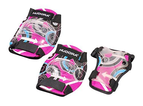 HUDORA Protektoren Kinder Pink Style, Protektoren-Set Inliner, Gr. M, 83344