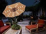GlamHaus Garden Parasol Tilting Table Umbrella...