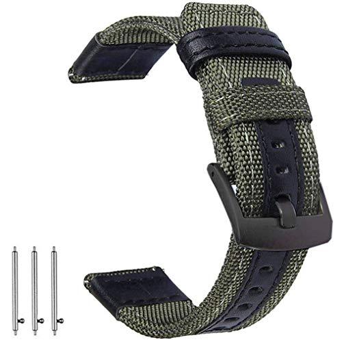 OTOPO für Gear S3 / Galaxy Watch 46mm Armband & Huawei Watch GT/GT Active/GT 2 46mm Armbands, 22mm Nylon Ersatz Riemen Bänder Armband für Samsung Galaxy Watch 46mm / Gear S3 Smartwatch - Armee Grün
