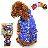 lovelonglong 2019 Dog Costumes Cheongsam Qipao Dresses for Small Dogs Pet Tang Dynasty Costume for Pomeranian Papillon S Blue