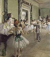 Edgar Degas ジクレープリント キャンバス 印刷 複製画 絵画 ポスター (バレエクラス)