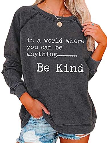 여성용 친절한 인쇄 스웨터 여성용 느슨한 캐주얼 경량 셔츠