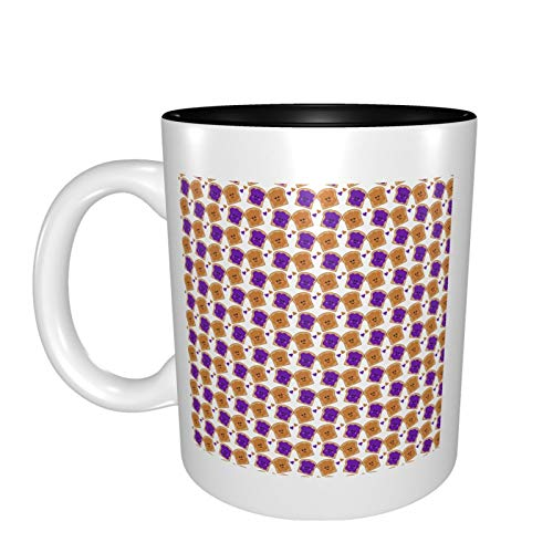Cute Peanut Butter And Jelly Mugs Funny Physiotherapy Gift Present Tea Coffee Ceramic Cup 11oz Black