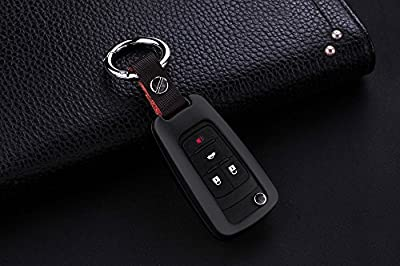 [MissBlue] Aircraft-grade Aluminum Key Fob Cover For Buick Remote Key, Protector Case Fits Buick Encore Excelle GL8 Regal Excelle XT GT Car Key, Unisex Leather Key Fob Keychain Key Fob Holder