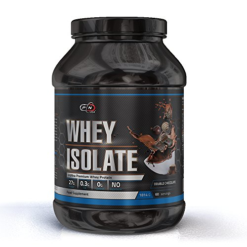 Pure Nutrition WHEY Isolate Protein Powder Shake Chocolate Unflavored 15 30 60 Servings 27g Protein 6g BCAA 5g Glutamine Low Fat Sugar Gluten Lactose Free Ultra Premium Muscle Building Supplement