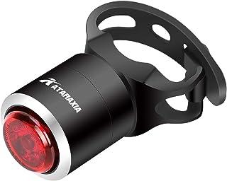 ATARAXIAテールライト スマートテールライト 自動点灯·消灯機能付き 27時間持続点灯 200mAh usb充電式 可視距離1000メートル以上 5ルーメン IPX5防水仕様 夜間走行の視認性をアピール オートライト搭載自動点滅自転車リアライト
