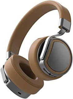 RFSTGYU Bluetooth Headset,Hi-Fi Stereo Wireless Headset Head-Mounted Self-Memory MP3 Player Wireless Headset With Talk Time For Home Smartphones PC/Cell Phones (Color : Brown)