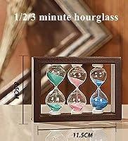 1/3/5分木製フレーム砂時計砂時計タイマー家の装飾用1/3/5分キッズ歯ブラシタイマーおもちゃクリスマスギフト飾り