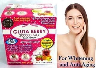 (2Box X 20Pack) Glutathione GSH 200000mg Berry Drinking Powder Fast Action Collagen Skin Whitening