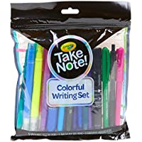 19-Pieces Crayola Take Note Colorful Writing Set