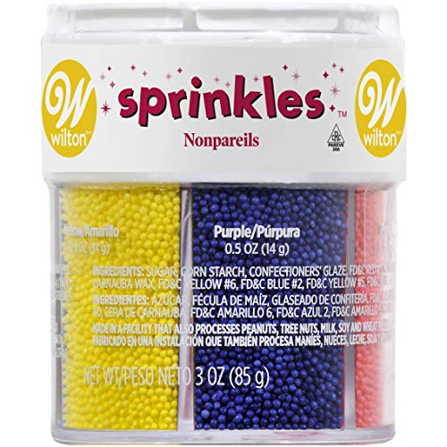 Wilton Nonpareils 6 Mix Sprinkle Assortment Baking Supplies, 1/20-Ounce