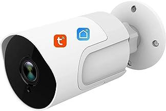 Beveiligingscamera, Tuya Smart Life WiFi-camera 1080P Draadloze IP-camera voor buiten Bidirectionele audiobewegingsdetecti...
