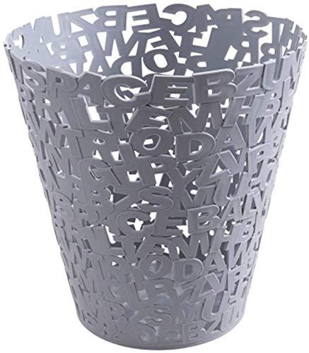 Abfalleimer mit hohlem Buchstaben, für Badezimmer, Küche, Wohnzimmer, Kunststoff, Papierkorb, A
