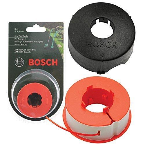 Bosch Original Kunst 23 26 30 COMBITRIM EASYTRIM Motorsense/Gras Trimmer Pro-Tap Automatisch Spule Schnur + Abdeckung (8m, F016L71088 + F016800175)