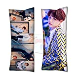 Cosplay-FTW BTS Suga Love Yourself 'Answer' Suga Body Pillow BTS A Throw Zippered Pillow Case 40cm x 100cm inch Cushion Cover (Set of 1, CASE ONLY)