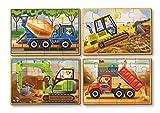 4 Rompecabezas DE Madera - Vehículos de construcción