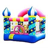 Castillo inflable estrella mini castillo inflable al aire libre castillo travieso de jardín de infantes trampolín de juguete para niños, soporte de baloncesto (color : blue, size : 225 * 220 * 215cm)