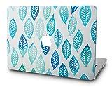 KECC Hülle für MacBook Air 13 Zoll Schutzhülle Hülle Cover MacBook Air 13.3 Hülle {A1466/A1369} (Gr?n Blau Blatt)