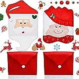 Cubierta de la Silla Decoración de Navidad,BETOY 4 PCS Home