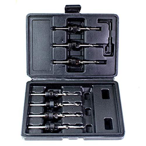 Amtech F0870 7pc Tapered Drill & Countersink Bit Set