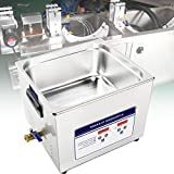 BIWASimple Ultrasonic Cleaner 10l, Stainless Steel Cleaner Machine with Heater Timer, Digital Lab Ultrasonic Cleaner, for Jewelry Tools, Instruments and Industrial Use