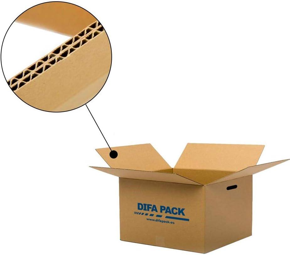 Cajas grandes Canal Doble 10 Cajas de cart/ón para mudanzas con asas 500 x 350 x 350 mm