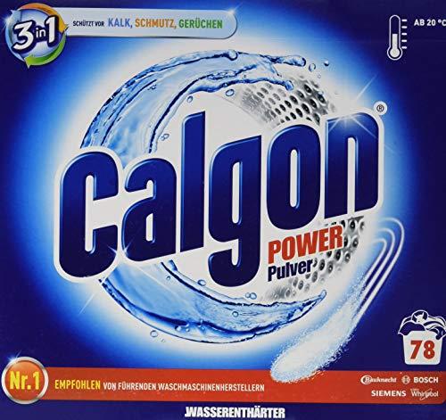 Calgon 3-in-1 powerpoeder, waterontharder tegen kalkaanslag en vuil in de wasmachine, voorkomt onaangename geurtjes, 1 x 2,5 kg