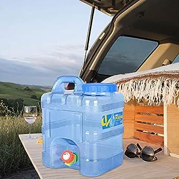 10L Bidon avec Robinet - Jerrican Alimentaire   Réservoir D?Eau en Plastique   Bidon d'eau Seau De Camping Jerrican   Seau De Camping Parfait pour Camping Car Voyage Voiture Maison
